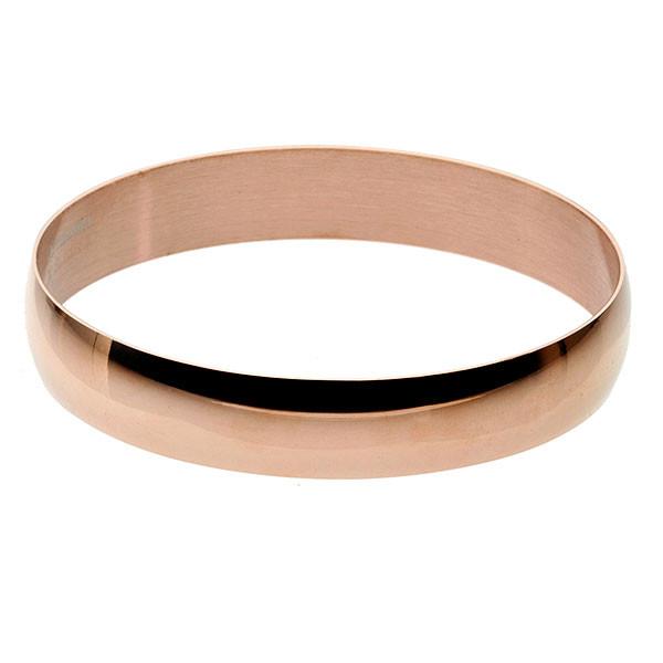 Minimalistyczna bransoleta bangle, różowe złoto