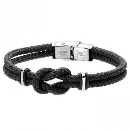 Minimalistyczna bransoletka męska z czarnego sznurka