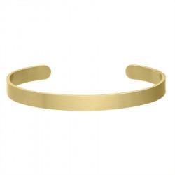 Minimalistyczna satynowana pozłacana bransoletka do personalizacji stal szlachetna