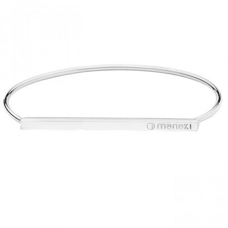 Minimalistyczna, srebrna bransoletka damska