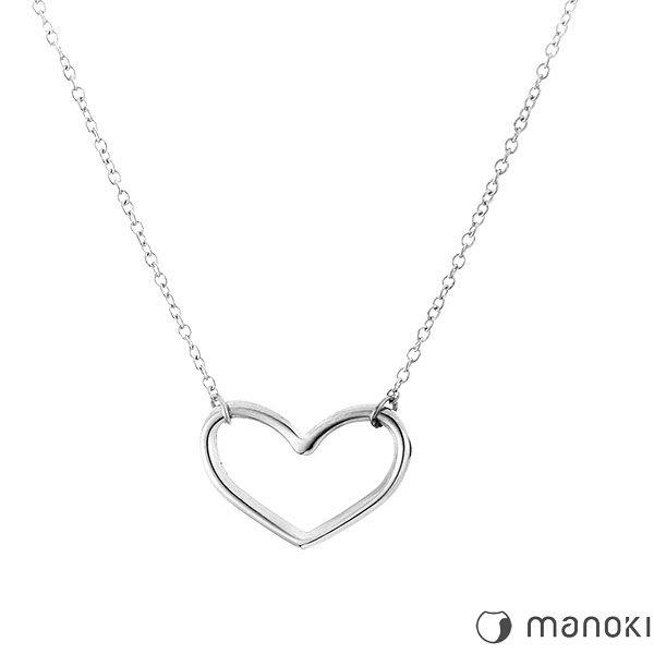 minimalistyczny naszyjnik z serduszkiem, kolor srebrny