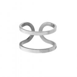 Minimalistyczny podwójny pierścionek