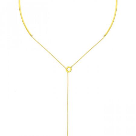 Minimalistyczny, złoty naszyjnik damski