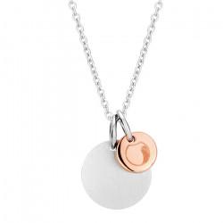Naszyjnik damski z medalikami w kolorze różowego złota i srebrnym