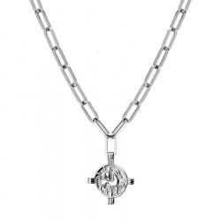 Naszyjnik łańcuch z antyczną monetą