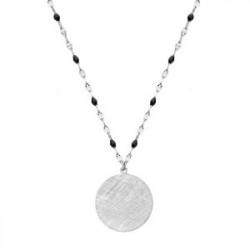 Naszyjnik medalion drapany