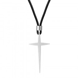 Naszyjnik męski krzyżyk sztylet na sznurku regulowanym