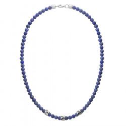 Naszyjnik męski lapis lazuli z beadsami etno style