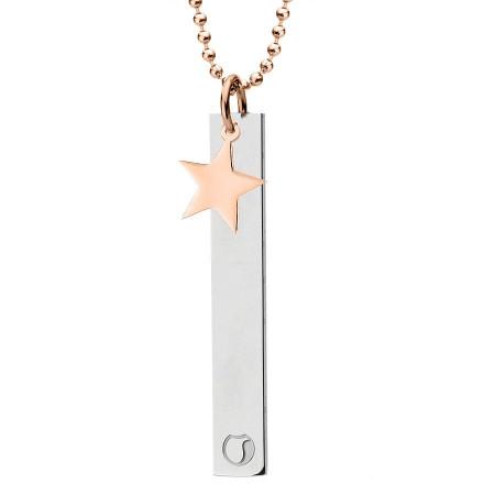 Naszyjnik z gwiazdką, różowe złoto