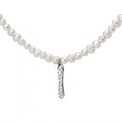 Naszyjnik z literką I z perłami