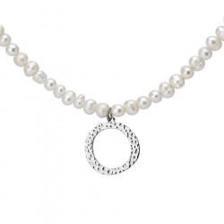 Naszyjnik z literką O z perłami