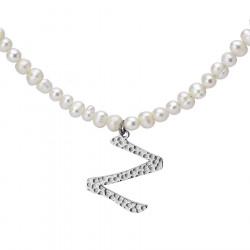 Naszyjnik z literką Z z perłami