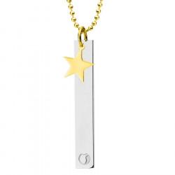 Naszyjnik ze złotą gwiazdką