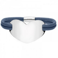 Niebieska bransoletka damska HEART