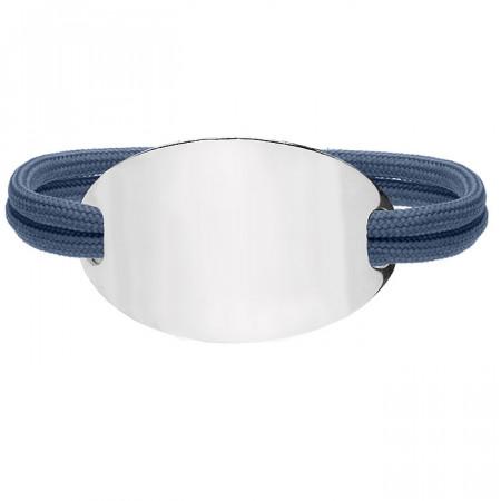 Niebieska bransoletka damska OVAL