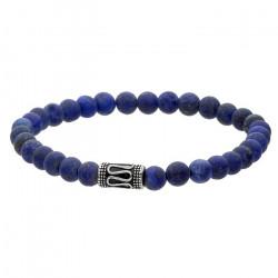 Niebieska bransoletka męska lapis lazuli