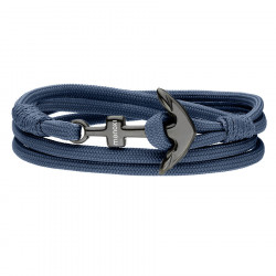 Niebieska męska bransoletka z kotwicą