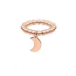 Obrączka z księżycem, różowe złoto