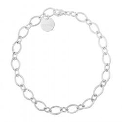 Ozdobny łańcuch - srebrna bransoletka ze stali szlachetnej