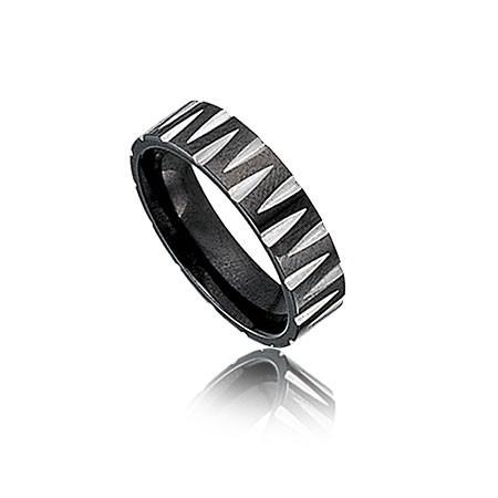 PA018 obrączka uniwersalna w kolorze czarno-srebrnym