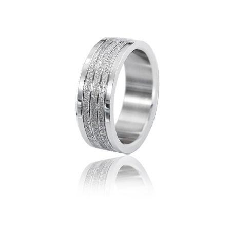 PA019 uniwersalna obrączka z diamentowanymi paskami