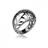 PA040 pierścionek ze stali szlachetnej, ażurowy wzór