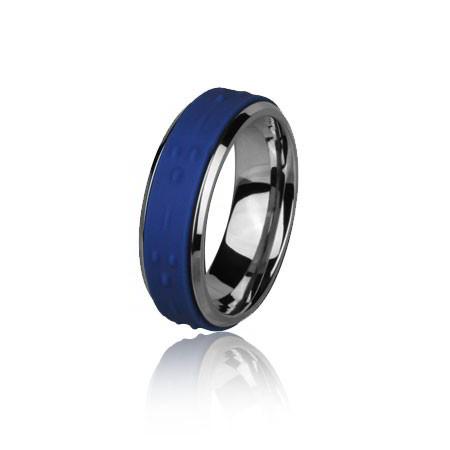 PA042N niebieska obrączka uniwersalna z kauczukiem
