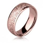 PA122R obrączka damska w błyszczące serduszka, różowe złoto