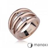 PA126 piękna obrączka z cyrkoniami, różowe złoto