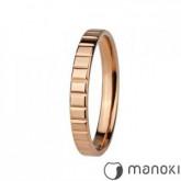 PA129R prosta obrączka damska w kolorze różowego złota