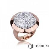 PA130RW pierścionek damski w kolorze różowego złota z żywicą
