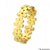 PA136G złota obrączka damska z kwiatuszków