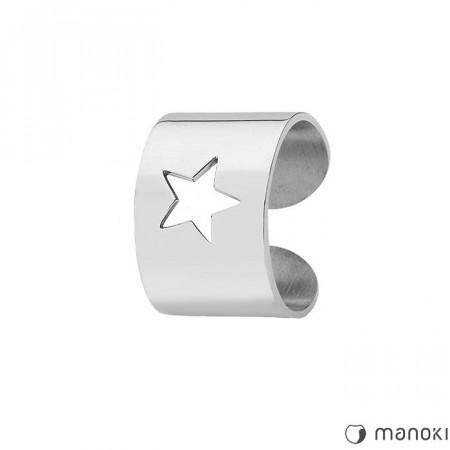 PA140 srebrna, damska obrączka STAR