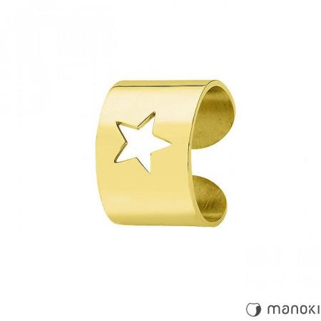 PA140G damska obrączka STAR w kolorze złotym