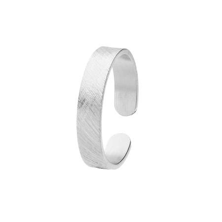 PA155 obrączka drapana kolor srebrny