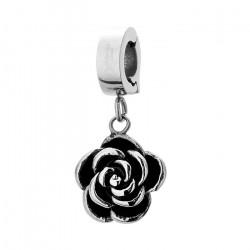 Piękny charms z różą
