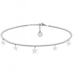 Piękny naszyjnik choker z gwiazdkami w kolorze srebrnym