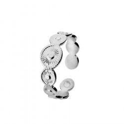 Pierścionek regulowany obrączka w stylu glamour