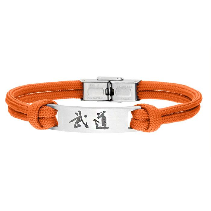Pomarańczowa bransoleta BUDO
