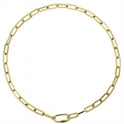 Pozłacany choker naszyjnik z grubego łańcucha ze stali