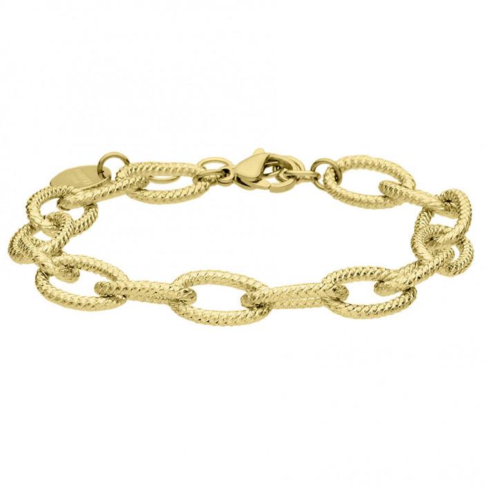 Pozłacany łańcuch bransoletka stal szlachetna