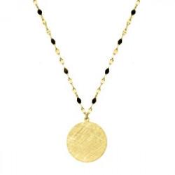 Pozłacany medalion naszyjnik
