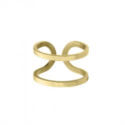 Pozłacany minimalistyczny pierścionek obrączka