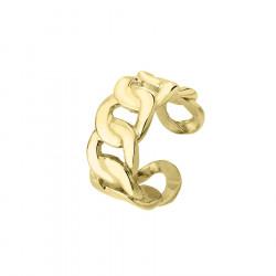 Pozłacany pierścionek pancerka gruby łańcuch ze stali szlachetnej