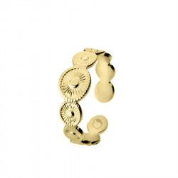 Pozłacany pierścionek regulowany obrączka w stylu glamour
