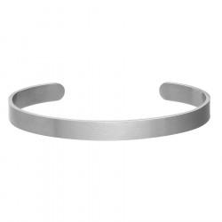 Satynowana minimalistyczna bransoletka pod grawer srebrna ze stali szlachetnej