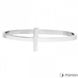 srebrna bransoletka damska z krzyżem
