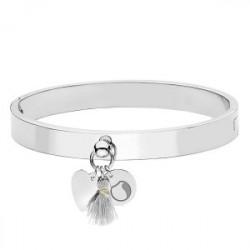 Srebrna bransoletka damska z minimalistycznymi ozdobami