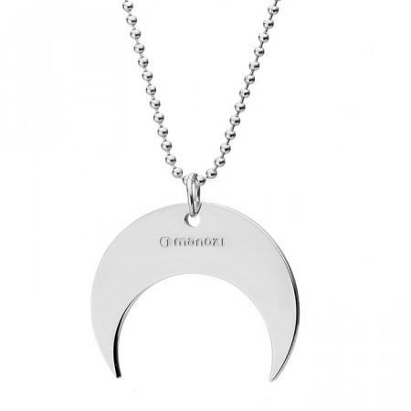 Srebrny naszyjnik z motywem księżyca