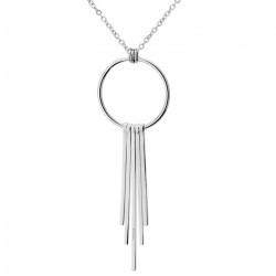 Srebrny naszyjnik z symbolem karmy, kółeczko i chwost